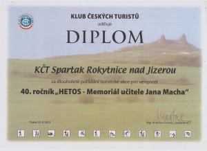 Diplom odboru od KČT